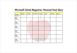 free food journal template free food diary template free resume