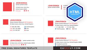Professional Free Email Signatures HTML Template - ESignatures ...