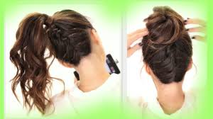 Hairstyles For School Step By Step 2 Cute Braids Back To School Hairstyles Braided Messy Bun