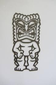 tribal tiki man metal wall sculpture on tiki metal wall art with tribal tiki man metal wall sculpture black hammer pinterest