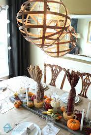 Thanksgiving table design with Fall accents
