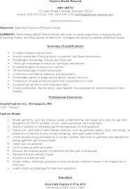 Modeling Resume Template Resume Format Model Model Resume Sample