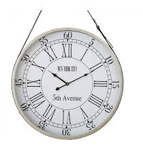 suspended wall clock new york