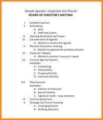 Executive Committee Meeting Agenda Template Staff Childcare ...