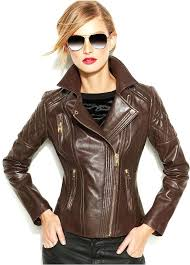 michael kors brown leather jacket on mens