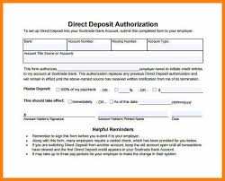 6+ Generic Direct Deposit Form Word | Plastic-Mouldings