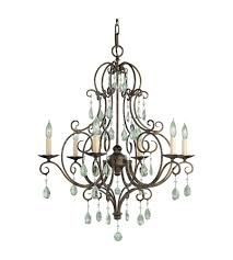 feiss f1902 6mbz cau 6 light 25 inch mocha bronze chandelier ceiling light photo