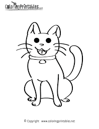 Kitten Coloring Page Printable