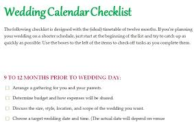 wedding checklist templates wedding calendar checklist template formal word templates