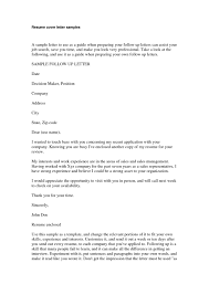 Cover Letter Template For Resume Resume For Your Job Application