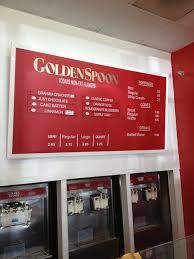 golden spoon frozen yogurt menu