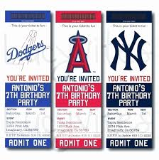 Invitation Ticket Template Best Baseball Ticket Invitation Template Free Great With Baseball Ticket