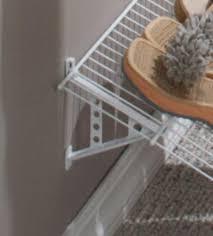 rubbermaid wire closet shelving. Plastic Shelf Bracket For Wire Shoe Rack In Closet Shelving   Organize Pinterest Rubbermaid