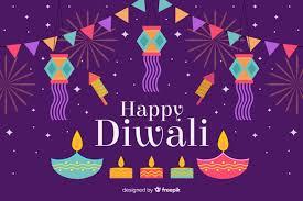 Happy Diwali Background In Flat Design Vector Free Download