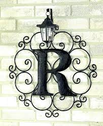 large wrought iron wall art outdoor wall decor large outdoor wall hangings metal monogram solar light large wrought iron wall art  on extra large outdoor wall art with large wrought iron wall art outdoor wall hangings metal outdoor wall