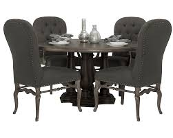 pc round dining table with upholstered chairs set