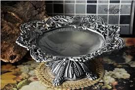 Decorative Metal Fruit Bowls 60cm round embossed metal serving tray storage tray metal fruit 57