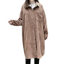 2019 new plus size 2017 women trench coat loose fat younger sister corduroy coats brown black 8268 from yanmai 33 4 dhgate com
