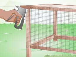 image titled build an outdoor rabbit cage step 7