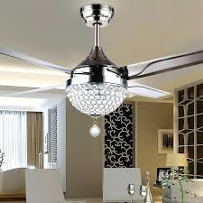 fan with crystal light gale crystal light led ceiling light restaurant bedroom modern minimalist fashion fan fan with crystal