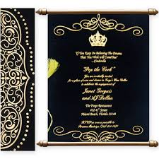 Buy Scroll Wedding Cards Online From 1 Indian Wedding Invitation