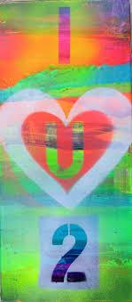 saatchi art artist m starr painting i love you 2 art