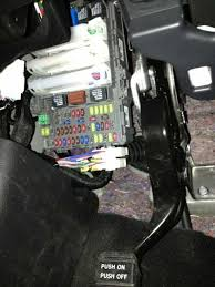 cover panel under the steering wheel and fuse panel 2009 honda crv a c fuse location at 2009 Honda Crv Fuse Box