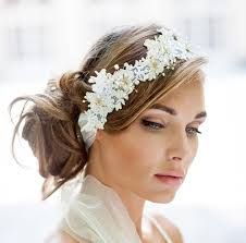 Lace Hair Style wedding lace halo lace hair vine wrap bohemian wedding hair 1906 by wearticles.com