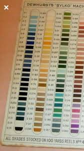 Dewhursts Sylko Machine Twist Nos 40 50 Shade Colour Chart