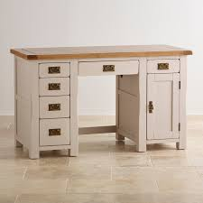 painted office furniture. Kemble Rustic Solid Oak And Painted Office Desk | Desks Living Room Furniture Shop By Land