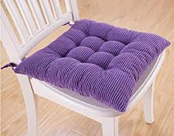 winter soft thicken plush cushions kitchen stool chair pad with ties large purple
