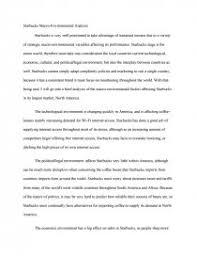 starbucks macro environmental analysis essay zoom zoom