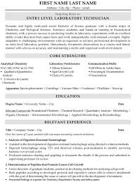 Laboratory Technician Resume Sample Template Simple Lab Technician Resume