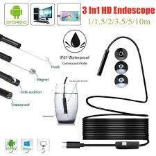 <b>Newest USB Snake Inspection</b> Camera Waterproof USB Type-C PC ...