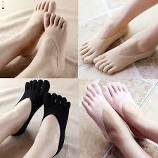 Hot Fashion Funny Five Finger Toe Sock <b>Women Slippers</b> Invisibility ...