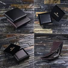 monogrammed men s bifold leather wallet