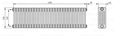 <b>Радиатор ARBONIA 4050</b>/28 №12 цвет белый глянец (RAL-9016 ...