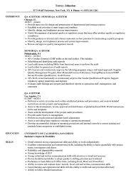 Quality Assurance Auditor Resume Sample QA Auditor Resume Samples Velvet Jobs 11