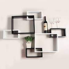 image of wall mounted decorative shelves