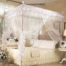 Online Shop Cute Princess Double Bed Canopies Adults Four Corner ...