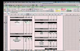 diet excel sheet excel nutrition tracking template youtube
