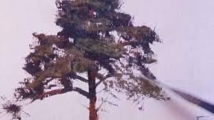 how to paint a ponderosa pine tree