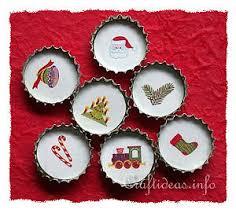 Bottle Cap Decorations Free Christmas Craft Recycling Craft Bottle Cap Dekoration 44