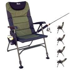 large portable reclining folding chair for fishing with integrated cup holder 5314199305cd031f22ecba89eaa folding chair holder chair full