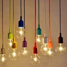 diy e27 chandelier light fixture hanging line colorful silicone rubber ceiling vintage pendant lamp holder e27