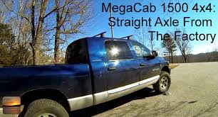 Dodge Ram Mega Cab 1500 4x4 - 8 Lug Straight Axle From The Factory ...