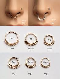 Nose Ring Gauge Chart Septum Jewelry Mm Size Chart Reference In 2019 Septum