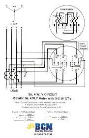wiring diagrams bay city metering nyc Form 2S Meter 3p 4w y circuit