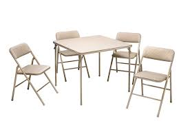 Cosco Products 5 Pc Folding Table And Chair Set Tan
