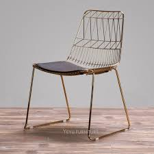 classic wire chair rose gold or gold color harry bertoia wire chair metal wire side dining